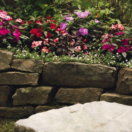 Greenscapes - Stone Wall w/ Flowers
